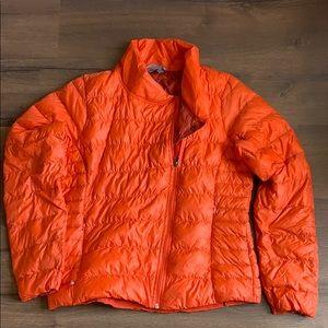 Athleta Down Goose XL Puffer Light Jacket orange